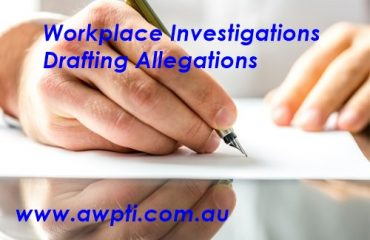 Workplace investigations Drafting allegations